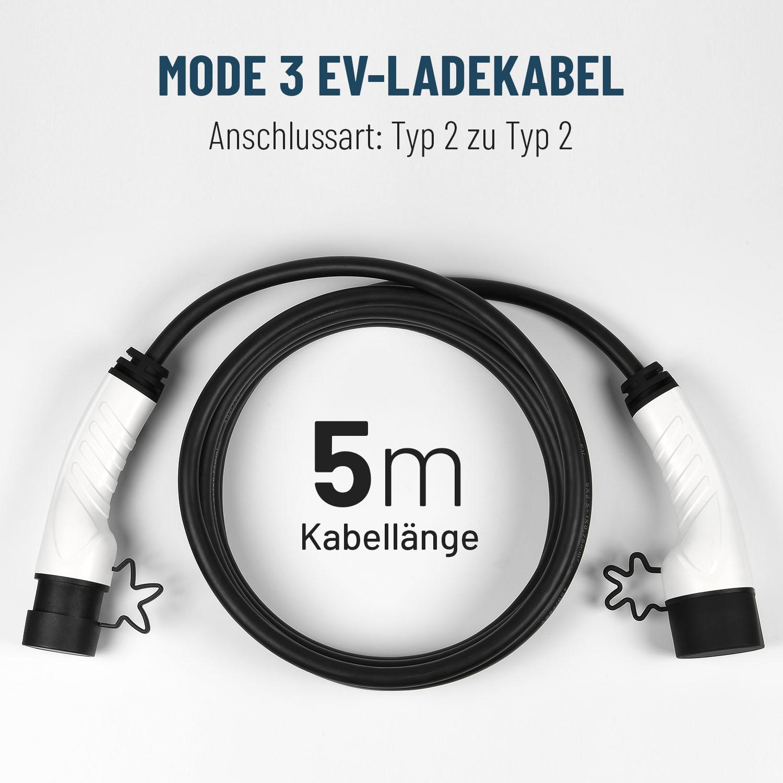 EV Ladekabel Typ2 für Ladesäulen